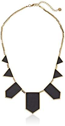 House Of Harlow Plated Station Leather Necklace