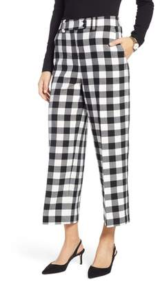 1901 Check Crop Wide Leg Pants