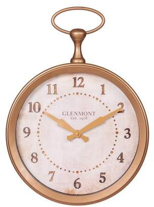 "Patton Wall Decor 13"" Glenmont Gold Pocket Watch Wall Clock"