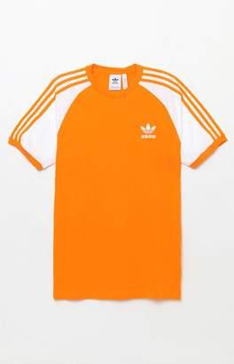 adidas 3-Stripes Orange Ringer T-Shirt