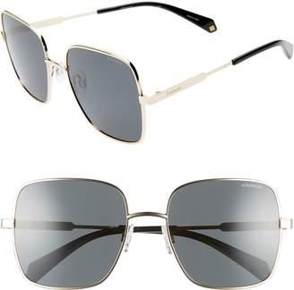 Polaroid Eyewear 57mm Polarized Square Sunglasses
