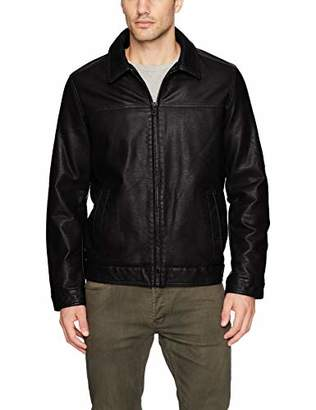 Tommy Hilfiger Men's Big and Tall Classic Faux Leather Jacket