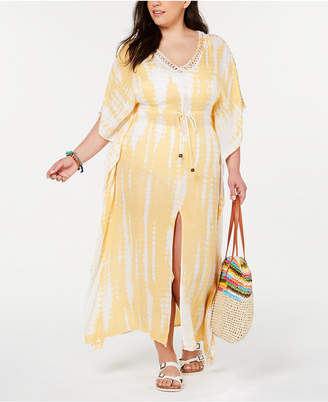 51fb4aa2ed2 Raviya Plus Size Tie-Dyed Cover-Up Dress Women Swimsuit