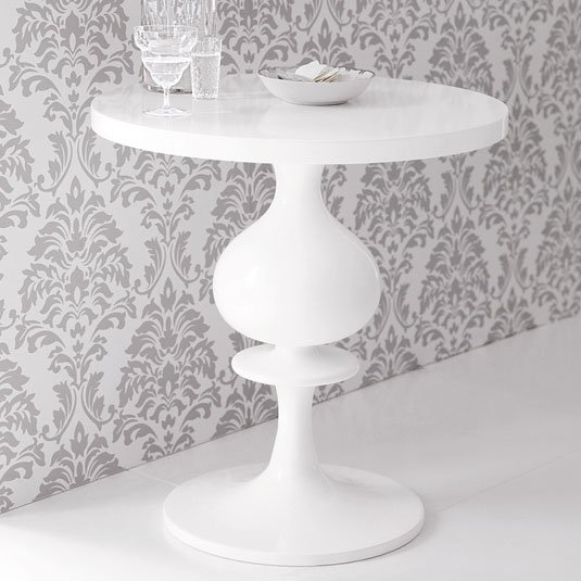 Turned Wood Pedestal Table   High Gloss White. 10 Round Pedestal Tables to Love   POPSUGAR Home