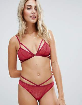 Lepel strappy lace knickers in red