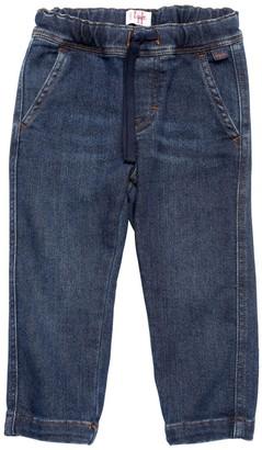 Il Gufo Denim Effect Cotton Sweatpants