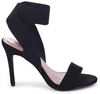 Linzi Crystal Black Suede Stiletto Heel With Elasticated Upper