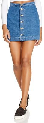 American Apparel Button Front Denim Skirt $62 thestylecure.com