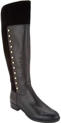 Marc Fisher Leather Tall Shaft Studded Boots - Damiya