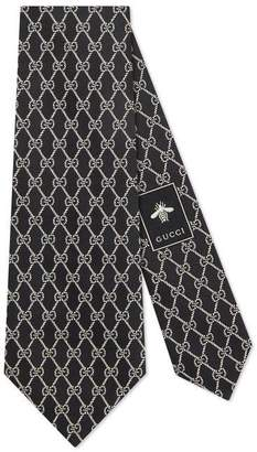 Gucci GG chains silk tie