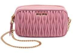 Miu Miu Convertible Leather Crossbody Bag