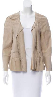 Derek Lam Open Front Suede Jacket