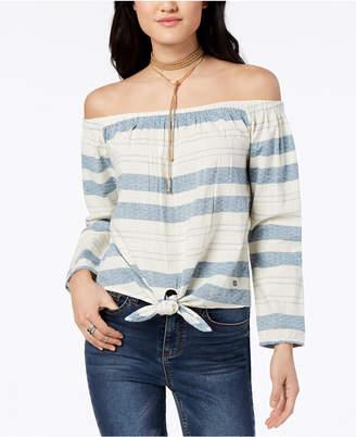 Roxy Juniors' Cotton Off-The-Shoulder Top