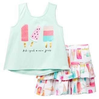 Kate Spade summer treats shirt & skirt 2-piece set (Toddler & Little Girls)