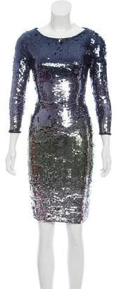 Alice + Olivia Knee-Length Sequin Dress