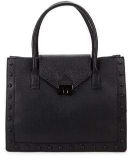 Loeffler Randall Studded Leather Work Tote