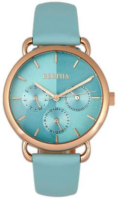 Bertha Quartz Gwen Collection Seafoam Leather Watch 36Mm