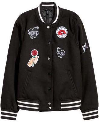 H&M Baseball Jacket - Black