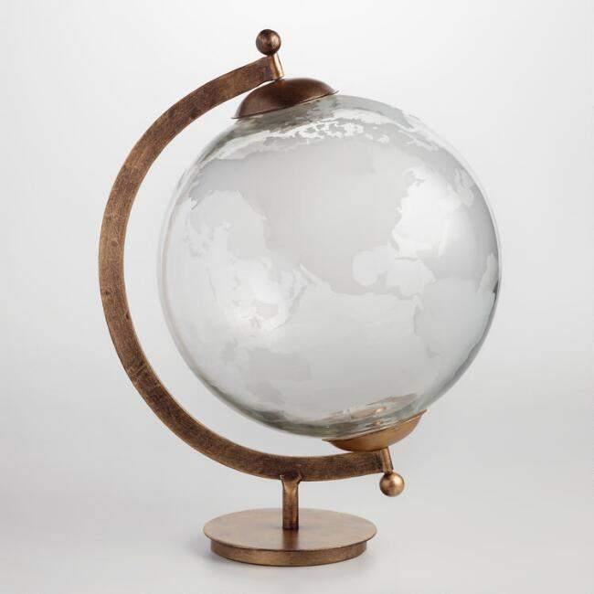 Etched Glass Globe