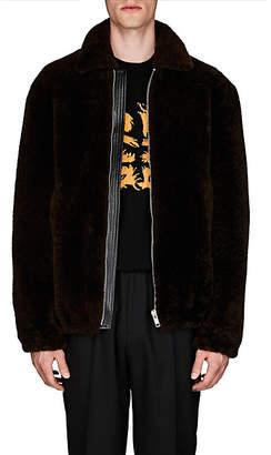 Givenchy Men's Shearling Oversized Jacket - Black