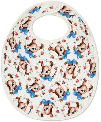 Gucci Baby fawns print cotton bib