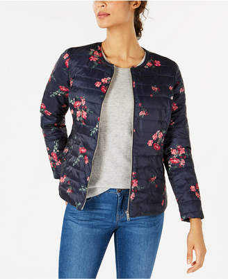 Charter Club Petite Reversible Floral Quilted Jacket