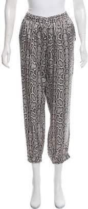 Marie France Van Damme Silk High-Rise Printed Pants