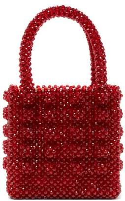 Shrimps - Antonia Ruby Crystal Embellished Bag - Womens - Dark Red