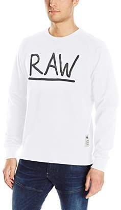 G Star Men's Manes Raglan Zip All Over Scribble Long Sleeve Hoody