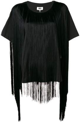 MM6 MAISON MARGIELA fringed short-sleeve blouse