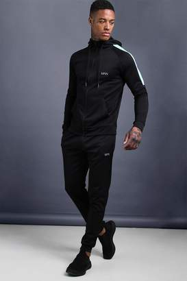 MAN Skinny Fit Tracksuit With Side Panels