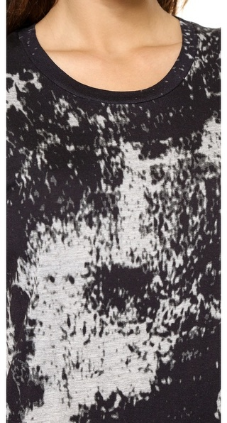 Just Female Earth Print T-Shirt Dress