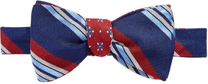 Brooks Brothers Brooks Brothers Men's Reversible Stripe/Flower Neat To-Tie Bow Tie
