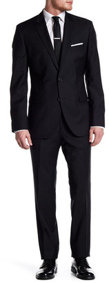 HUGO BOSS Black Grand/Central Two Button Notch Lapel Wool Suit $795 thestylecure.com