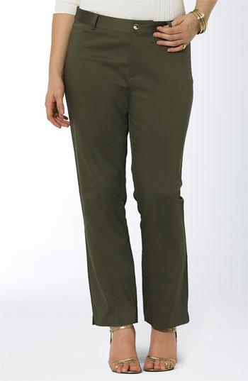 Lauren by Ralph Lauren 'Camilla' Sateen Pants (Plus)