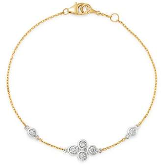 Bloomingdale's Diamond Bezel Set Bracelet in 14K White and Yellow Gold, 0.30 ct. t.w. - 100% Exclusive