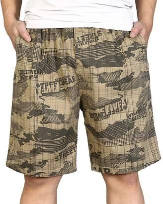 Chickle Men's Elastic Waist Big Tall Loose Fit Shorts 3XL