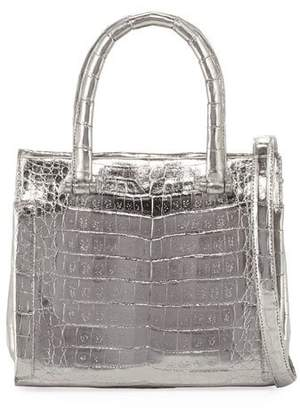 Nancy Gonzalez Small Metallic Double-Handle Tote Bag