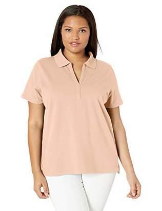 Calvin Klein Women's Short Sleeve Johnny Collar Polo