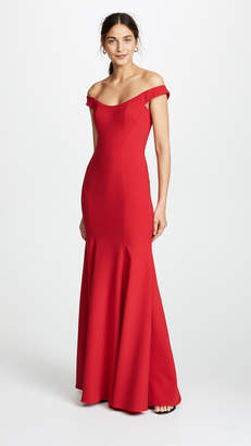 Marchesa Off Shoulder Gown