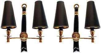 One Kings Lane Vintage French A. Arbus Sconces - Set of 2 - Thomas Brillet Inc.
