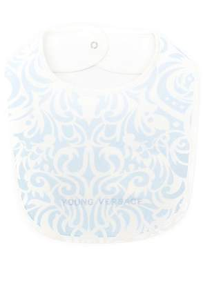 Versace patterned bib