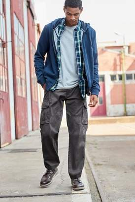 Next Mens Charcoal Cargo Trousers