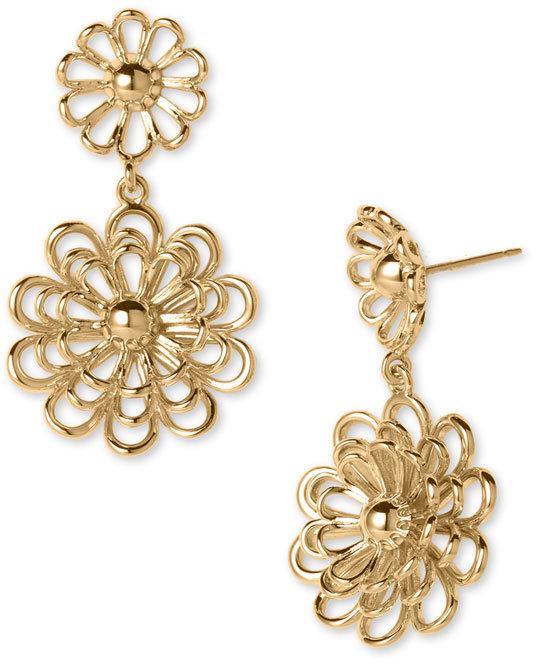 Kate Spade 'oops A Daisy' Dual Drop Earrings