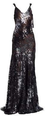 Rubin Singer Sequin Fit-&-Flare Gown
