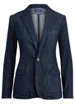 Ralph Lauren Single-Button Denim Blazer Indigo 4