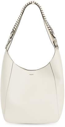 DKNY Chain Leather Hobo Bag