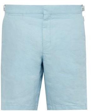 Orlebar Brown Norwich Linen Shorts - Mens - Light Blue