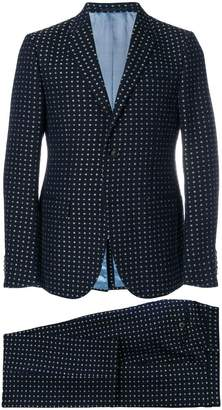 Gucci floral embroidered two-piece suit