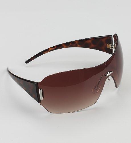 Animal Print Visor Sunglasses